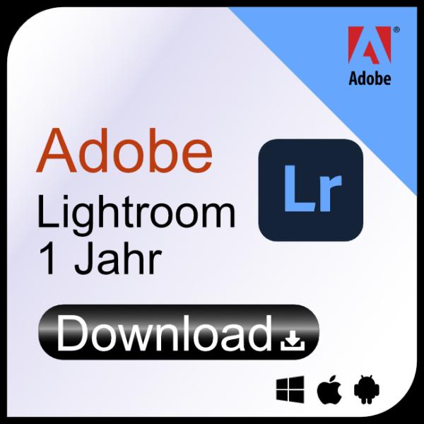 Adobe Lightroom 1 Jahr