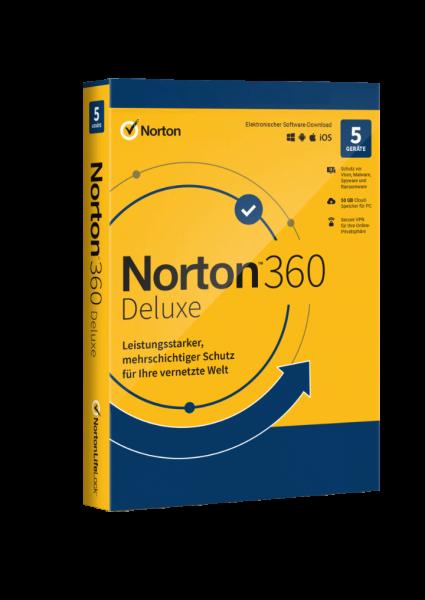 Norton 360 Deluxe 5 Geräte 1 Jahr